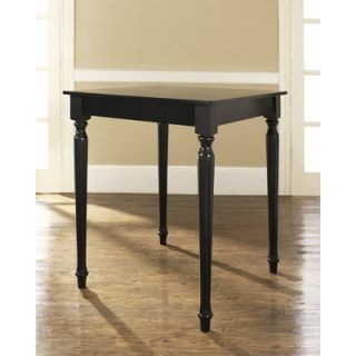 Crosley Turned Leg Pub Table in Black   KD20003BK
