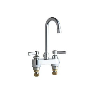 Chicago Faucets Centerset Bathroom Sink Faucet with Double Lever