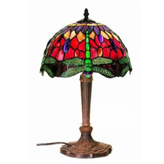 Warehouse of Tiffany Purple / Red Dragonfly Table Lamp   305+MB45