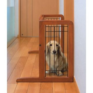 Richell Freestanding Wooden Pet Gate in Autumn Matte Finish   R94135