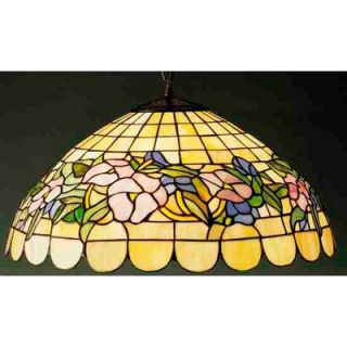 Meyda Tiffany Tiffany 3 Light Pansy Pendant
