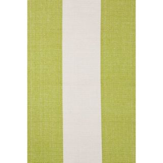 Dash and Albert Rugs Woven Yacht Green/White Stripe Rug