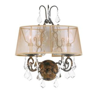 World Imports Lighting Belle Marie Wall Sconce in Antique Gold