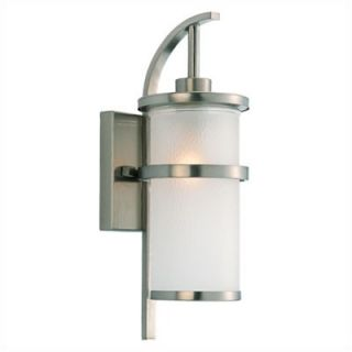 Sea Gull Lighting Eternity Outdoor Wall Lantern in Brushed Nickel with