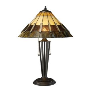 Dimond Lighting Porterdale Two Light Table Lamp in Tiffany Bronze