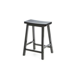 Winsome Saddle Seat 24 Counter Stool in Black