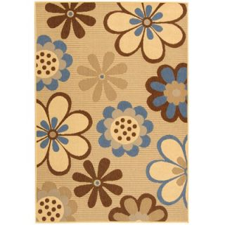 Safavieh Courtyard Natural Brown/Blue Rug