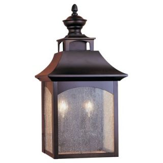 Feiss Homestead Two Light Outdoor Wall Lantern in Oil Rubbed Bronze