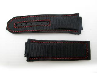 Hublot Big Bang King Power F1 STRAP ONLY Black with Red Stitch