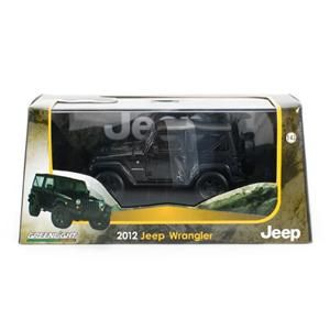 Greenlight Collectibles 2012 Jeep Wrangler Black 1 43 Scale w Case