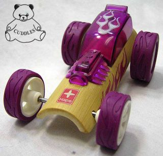 Hot Rod Mini Car Child Toy Hape Bamboo Purple White Eco Friendly