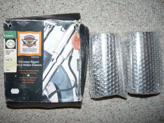 GENUINE HARLEY DAVIDSON CHROME TOURING FORK SLIDER COVERS CANS PART