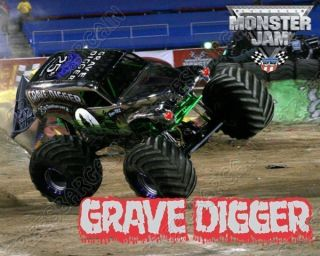 Grave Digger Monster Truck Shirt Iron on Transfer