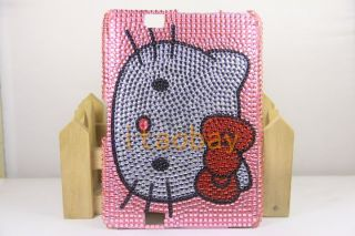 Bling Crystal Hello Kitty Cover Case Skin for  Kindle Fire HD 7