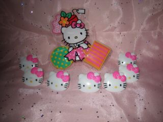 Party Supplies Cupcake Hello Kitty Cake Topper Rings 13