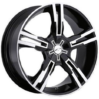 Platinum Saber 16x7 Black Wheel / Rim 4x100 & 4x4.5 with a 42mm Offset