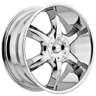 Akuza Lucuna 22x8.5 Chrome Wheel / Rim 5x115 & 5x120 with a 35mm