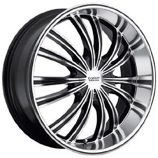 Cruiser Alloy Shadow 20x9 Machined Black Wheel / Rim 5x115 & 5x5 with
