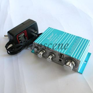 HI FI stereo audio amplifier 2 Channel Power Amplifier Mini Amp, Car