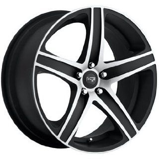 Niche Euro 19x8.5 Black Wheel / Rim 5x112 with a 50mm Offset and a 66