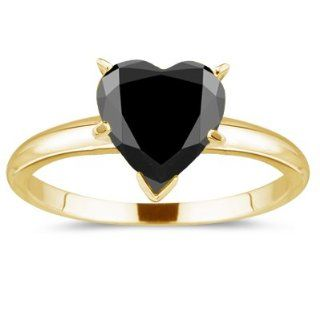 Heart Solitaire Ring in 18K Yellow Gold 3.0 Jewelry