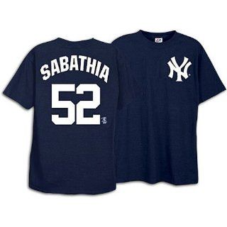 cc sabathia new york yankees name and number t shirt navy