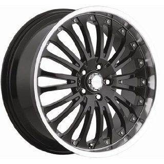 Menzari Hydro 18x8.5 Black Wheel / Rim 5x112 with a 35mm Offset and a