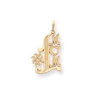 14k Number 1 Mom Charm   Measures 28.7x16.6mm   JewelryWeb