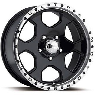 Ultra Rouge 16x8 Black Wheel / Rim 6x5.5 with a 10mm Offset and a 108