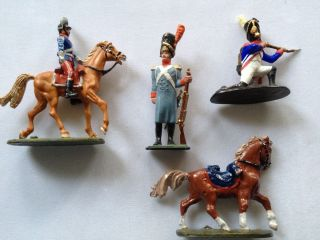 Napoleonic French Imperial Grenadiers with Two Horses