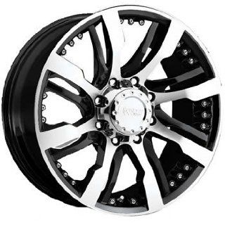 Cruiser Alloy Switchblade 8 22x9.5 Black Wheel / Rim 8x170 with a 30mm