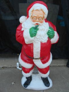 NEW CHRISTMAS HOLIDAY BLOW MOLD PLASTIC YARD LAWN DECOR LIGHT UP SANTA