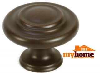 Cabinet Hardware 3 Ring Knobs Oil Rubbed Bronze Knob
