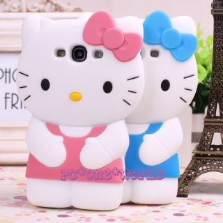 3D Hello Kitty Cell Phone Case Cover Skin for Samsung i9300 Galaxy S3