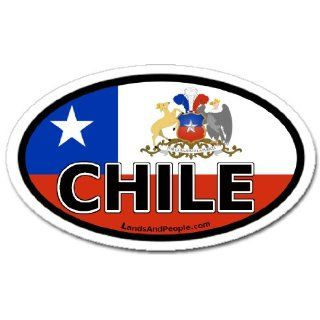Chile and Chilean Flag Car Bumper Sticker Decal Oval