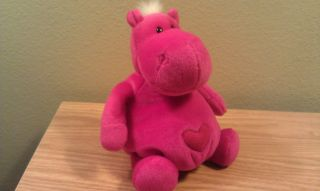 Hippo Plush Soft Stuffed Animal Hipp Hearts by Enesco NICI 7H