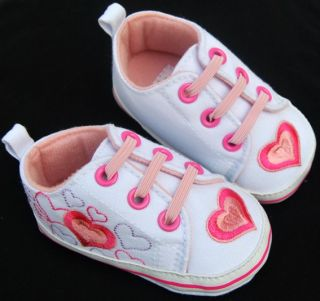 Kids Toddler Baby Girl Pink Tennis Shoes Size 2 3