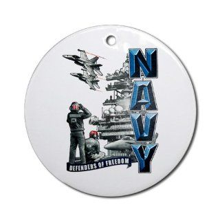Ornament (Round) United States US Navy Defenders of