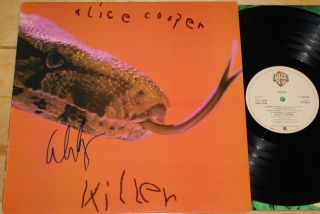 COOPER KILLERS VERY RARE GENUINE HAND SIGNED UK VINYL LP HEAVY METAL