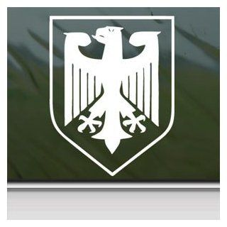GERMANY CREST Eagle Army Military White Sticker Laptop
