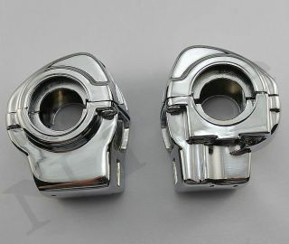 Chrome Switch Housings Cover For Harley Electra Glide FLHT Standard