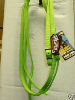 New Pony Bright Lime Green Nylon Horse Tack Split Reins