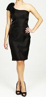 New Jessica Howard Womens One Shoulder Dress Black Petite Size 14P