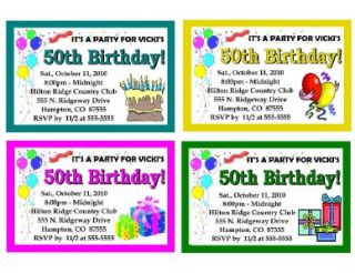 Personalized 40th 50th 60th Birthday Party Invitations
