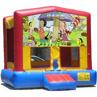 Cat in the Hat Bounce House Inflatable Jumper Art Panel