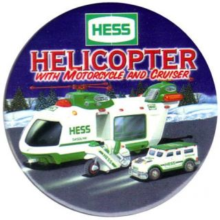 Hess Toy Truck Advertising Employee Pin Button 2001 (tenth button