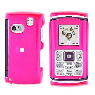 Hot Pink Rubberized Snap on Hard Skin Faceplate Phone