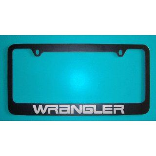 Jeep Wrangler Black License Plate Frame V2 (Zinc Metal