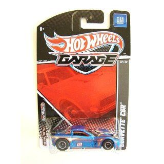 2010 2011 Hot Wheels Garage CORVETTE C6R (BLUE WITH FLAMES