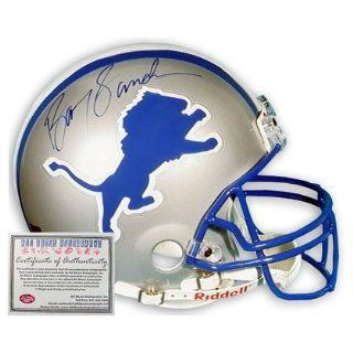 Barry Sanders Detroit Lions NFL Hand Signed Mini Replica